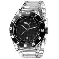 Puma Uhr PU910661003 Damenuhr Analog Schwarz Transparent Lady Watch NEU & OVP