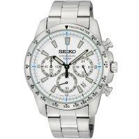 Seiko Uhr SSB025P1 Herrenuhr Chronograph Silber Edelstahl Datum Watch NEU & OVP