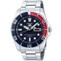 Seiko 5 Sports Uhr SNZF15K1 Automatikuhr Blau Rot Herrenuhr Watch NEU & OVP