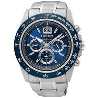 Seiko Uhr SPC235P1 Chronograph Lord Herrenuhr Silber Blau Edelstahl Datum NEU & OVP