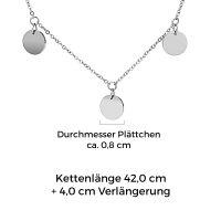 Mendozza Kette MJ-NE01763L Damen Collier Silber Coins Anhänger