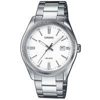 Casio Uhr MTP-1302PD-7A1VEF Herren Armbanduhr Edelstahl Weiß Datum NEU & OVP