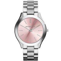 Michael Kors Uhr MK3380 Damenuhr Silber Rosa Edelstahl Slim Armbanduhr NEU & OVP