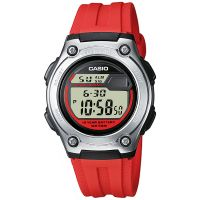 Casio Uhr W-211-4AVES Herren Damen Digital Armbanduhr Rot Watch NEU & OVP