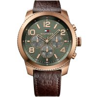 Tommy Hilfiger Uhr 1791109 Herrenuhr Braun Roségold Oliv Leder Watch NEU & OVP