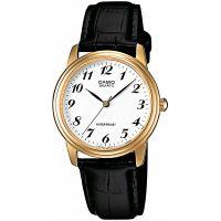 Casio Uhr MTP-1236PGL-7B Herren Armbanduhr Leder Weiß Gold Schwarz NEU & OVP