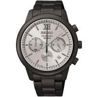 Seiko Uhr SSB141P1 Herrenuhr Chronograph Grau Edelstahl Datum Watch NEU & OVP