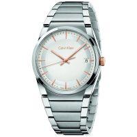 Calvin Klein Uhr K6K31B46 Step Herren Edelstahl Silber Rosé Swiss Made NEU & OVP