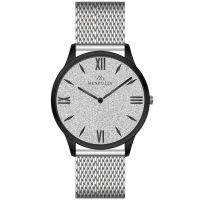 Mendozza Uhr MW-GB0401H-SM White Diamond Armbanduhr Silber Schwarz