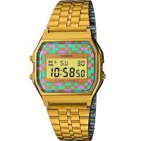 Casio Retro Digitaluhr A159WGEA-4AEF Armbanduhr Herren Damen Gold Blau NEU & OVP