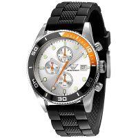 Emporio Armani Uhr AR5856 Herrenuhr Silber Schwarz Edelstahl Chrono NEU & OVP