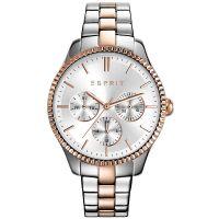 Esprit Uhr ES108942005 Damen Chronograph Edelstahl Silber Roségold NEU & OVP
