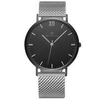 Mendozza Uhr MW-RS0404H-SM Midnight Black Armbanduhr Schwarz Silber