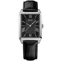 Hugo Boss Uhr 1502257 Damenuhr Schwarz Silber Leder Lady Watch Black NEU & OVP