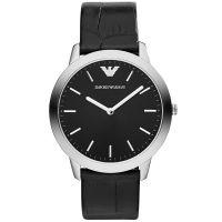Emporio Armani Uhr AR1741 Herrenuhr Schwarz Leder Men Black Watch NEU & OVP