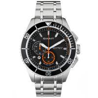 GANT Uhr W70541 Seabrook Chronograph Herren Silber Schwarz Edelstahl NEU & OVP