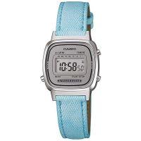 Casio Uhr LA670WL-2ADF Digital Damen Armbanduhr Jeans Blau Grau Watch NEU & OVP
