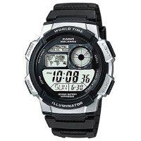 Casio Uhr AE-1000W-1A2 Digitaluhr Armbanduhr Herren Schwarz Weltzeit NEU & OVP