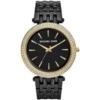 Michael Kors Uhr MK3322 Darci Gold Schwarz Strass B-WARE mit Gebrauchsspuren