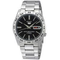 Seiko 5 Gents Uhr SNKE01K1 Automatikuhr Silber Black Herrenuhr Datum NEU & OVP