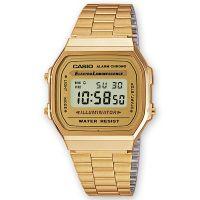 Casio Uhr A168WG-9WDF Retro Digitaluhr Armbanduhr Herren Damen Gold NEU & OVP
