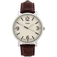 Timex Uhr T2P526 ORIGINALS Oversize Herrenuhr Leder Braun Weiß Watch NEU & OVP