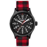 Timex Uhr TW4B02000 EXPEDITION Scout Textilarmband Schwarz Rot Watch NEU & OVP