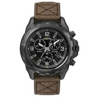 Timex Uhr T49986 EXPEDITION Rugged Chronograph Leder Braun Black Watch NEU & OVP