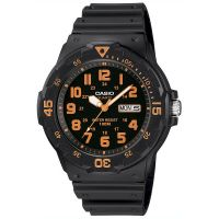 Casio Uhr MRW-200H-4B Damen Herren Armbanduhr Schwarz Orange Sport NEU & OVP