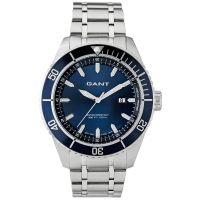 GANT Uhr W70394 Seabrook Herren Silber Blau Edelstahl Datum Watch Men NEU & OVP