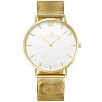 Mendozza Uhr MW-RG0200H-GM White Moon Armbanduhr Gold Weiß
