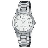 Casio Uhr LTP-1141PA-7BEF Damen Edelstahlarmband Silber Weiß Watch NEU & OVP