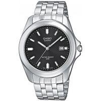 Casio Uhr MTP-1222A-1AVEF Herren Armbanduhr Edelstahl Schwarz Datum NEU & OVP