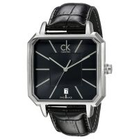 Calvin Klein Uhr K1U21107 Concept Herren Leder Schwarz Swiss Made NEU & OVP