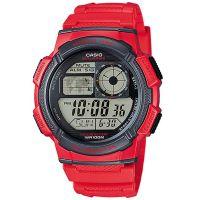 Casio Uhr AE-1000W-4AVEF Digital Armbanduhr Herren Rot Weltzeit Sport NEU & OVP