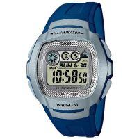 Casio Digitaluhr W-210-2AVES Armbanduhr Herren Damen Blau Silber watch NEU & OVP