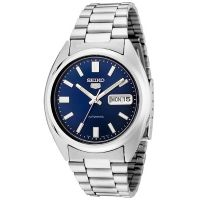 Seiko 5 Gent Uhr SNXS77K Automatikuhr Silber Blau Herrenuhr Watch NEU & OVP - Testvariante