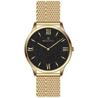 Mendozza Uhr MW-GG0204H-GM Black Sand Armbanduhr Gold Schwarz