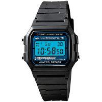 Casio Uhr F-105W-1A Retro Digital Armbanduhr Herren Damen Schwarz Blau NEU & OVP