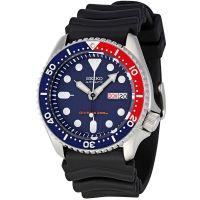 Seiko Uhr SKX009K1 Automatikuhr Herren Taucheruhr Divers Blau Rot NEU & OVP
