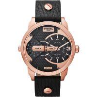 Diesel Uhr DZ7317 Herrenuhr XL Mini Daddy Black Roségold Leder Watch NEU & OVP