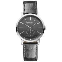 Ingersoll Uhr INQ012GYSL Springfield Herren Leder Grau Edelstahl Watch NEU & OVP