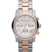 Michael Kors Uhr MK5315 Damenuhr Silber Roségold Edelstahl Chronograph NEU & OVP
