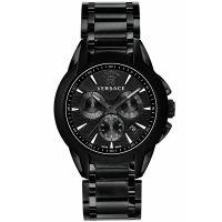 Versace Uhr M8C60D008S060 Herrenuhr Chrono Schwarz Edelstahl Watch NEU & OVP