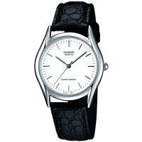 Casio Uhr MTP-1154PE-7A Herren Damen Armbanduhr Leder Weiß Schwarz NEU & OVP
