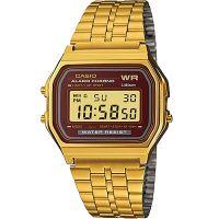 Casio Uhr A159WGEA-5DF Retro Digital Armbanduhr Herren Damen Gold Blau NEU & OVP
