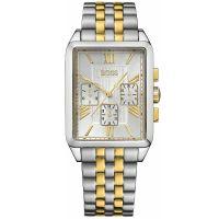 Hugo Boss Uhr 1512727 Herrenuhr Gold Silber Edelstahl Datum Men Watch NEU & OVP
