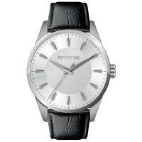 Cerruti 1881 Uhr CRA045A212B Herrenuhr Leder Schwarz Silber Watch Men NEU & OVP