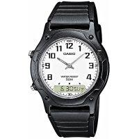 Casio Uhr AW-49H-7B Analog Digitaluhr Herren Damen Weiß Schwarz Watch NEU & OVP
