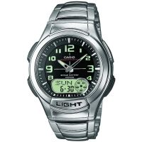 Casio Uhr AQ-180WD-1BVES Analog Digital Herren Silber Schwarz Watch NEU & OVP